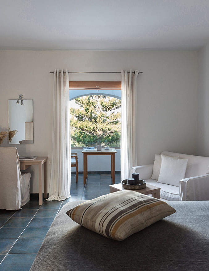 Minos Beach art hotel - Doppelzimmer mit Meerblick – Hauptgebäude